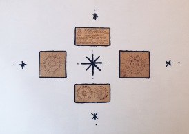 Ritual of the Moon wood burned calendars and mantras